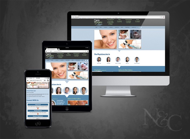 DermSurgery Associates Website Responsiveness Example