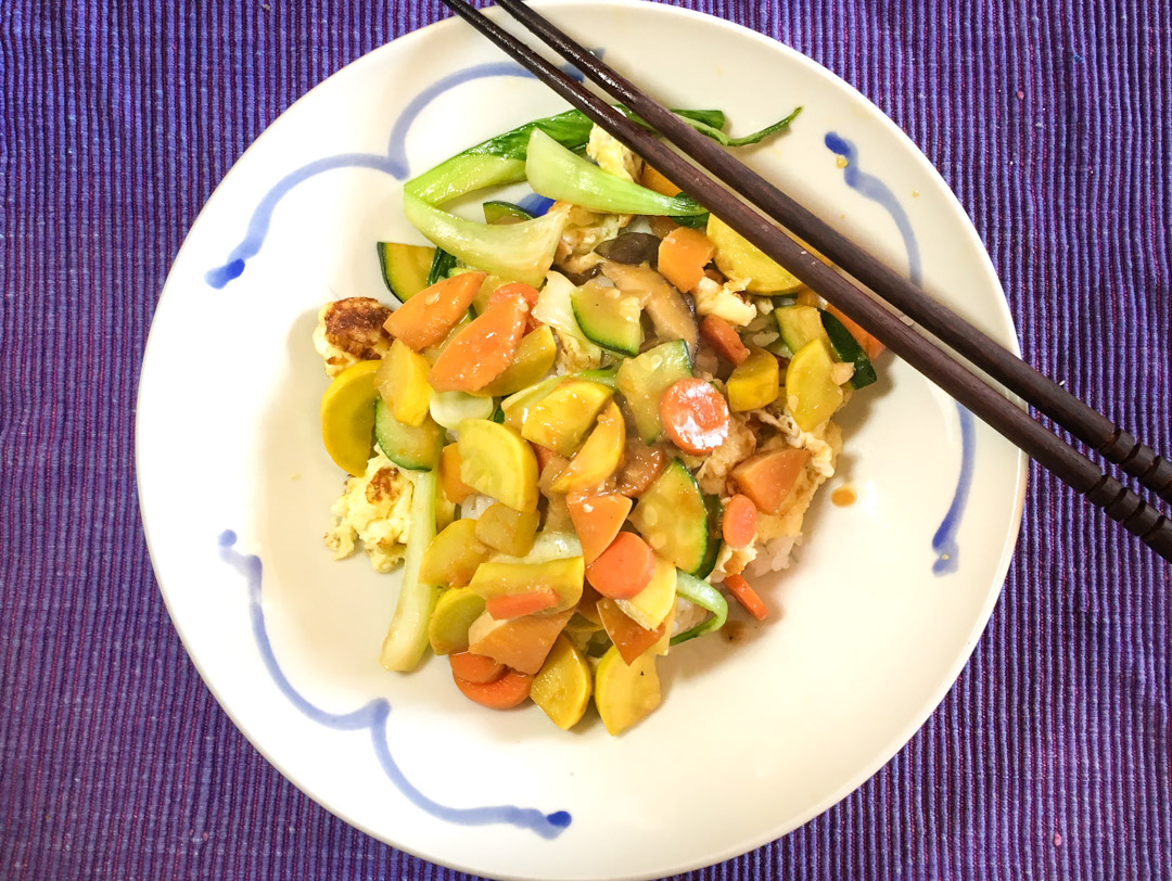 Stir fry made with miso sauce!
