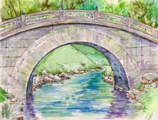 Toyko, Japan, Watercolor