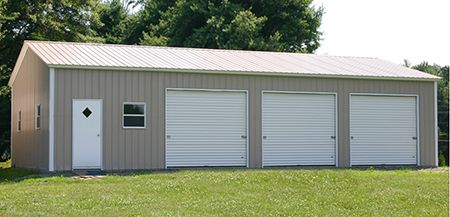 Triple Wide Metal Garage in Gainesville, Florida for Boat or RV Protection