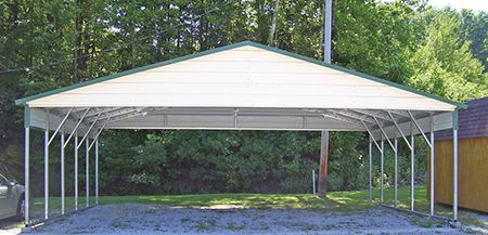 Triple Wide Carport, Boxed Eave, Gainesville, Florida