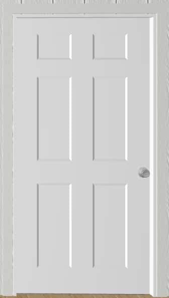 Door 3 Feet 6 Panel For Portable Wood Building