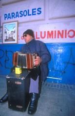 Uruguay, Montevideo, Mercado Tristán Narvaja, bandoneón