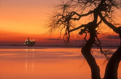Uruguay, Dp, Río Negro, Fray Bento, río Uruguay, nocturno