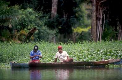 Costa Rica, Tortuguero, río Tortuguero, pescadores