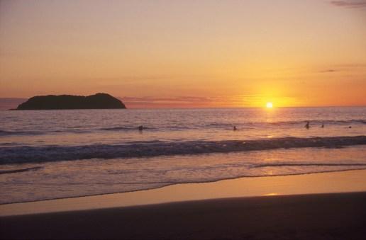Costa Rica, playa Manuel Antonio, atardecer