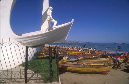 Chile, Valparaiso, , Cala Portales, pescadores, trabajo