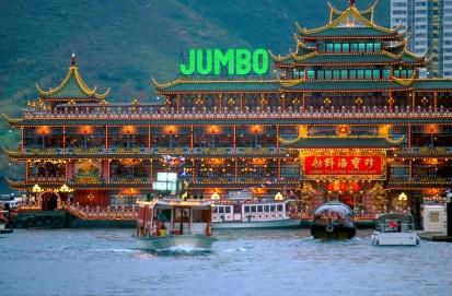 Hong Kong, restaurante flotante Jumbo