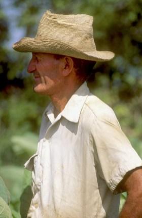 Cuba, Pinar del Río, plantación de tabaco, campesino, retrato