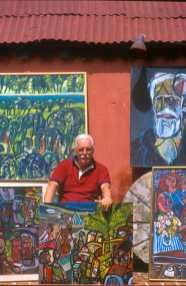 Uruguay, Punta del Este, Pintor Jorge Paez Vilaro, retrato