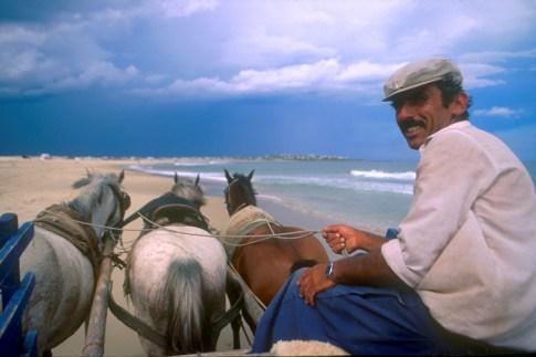 Uruguay, Dp, Rocha, Cabo Polonio, carreta