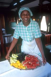 Sudáfrica, tren Rovos Rail, Pretoria, preparando el desayuno, retrato
