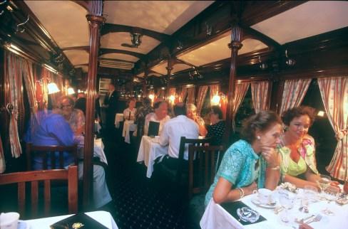 Sudáfrica, tren Rovos Rail, Pretoria, vagón comedor