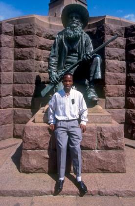 Sudáfrica, Transvaal, Pretoria, Church Square, Miembro Iglesia Zion, retrato