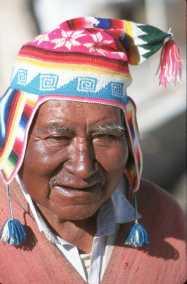 Bolivia, barcos de Totora, retrato