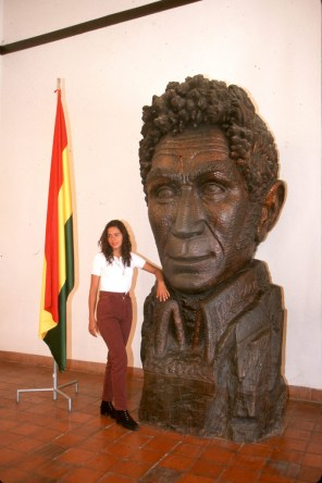 Bolivia, Sucre, casa de la Libertad, busto Simon Bolivar, retrato