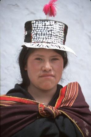 Bolivia, Chuquisaca, Tarabuco, feria dominical, retrato