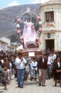 Bolivia, Chuquisaca, Tarabuco, feria dominical, prosecion