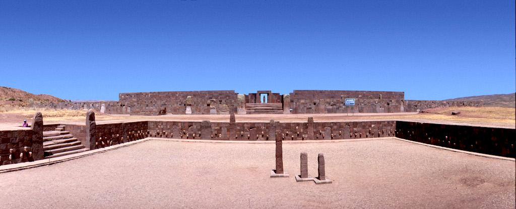 Bolivia, Altiplano, Tiwanaku-Ruinas Aymara, Templete Semisubterraneo