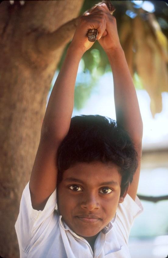 Sri Lanka, Sigiriya,templo de la roca, grupo de escolares de visita, retrato