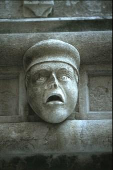 Croacia, Sibenik, catesral de Sibenik detalle, escultura