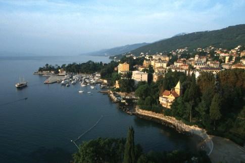 Croacia, Opatija, puerto deportivo