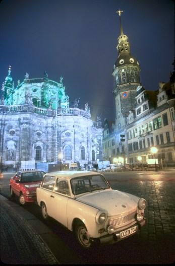 Alemania, Sajonia, Dresden, Zwinger, nocturno