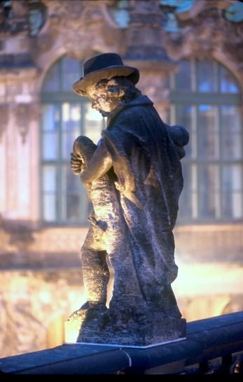 Alemania, Dresden, Zwinger, terraza Bhrul, escultura