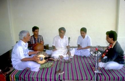 India, Mysore, Fiesta de Dussehra, Karnataka, música en el templo