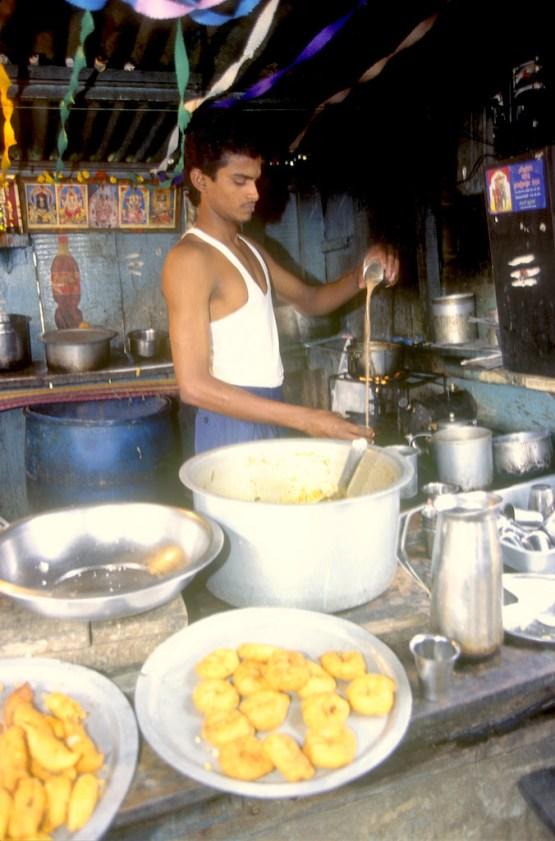 India, Mysore, Fiesta de Dussehra, Karnataka, Comida rápida
