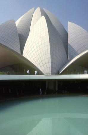India, Uttar Pradesh, Delhi,Templo Bahai, forma de Lotus