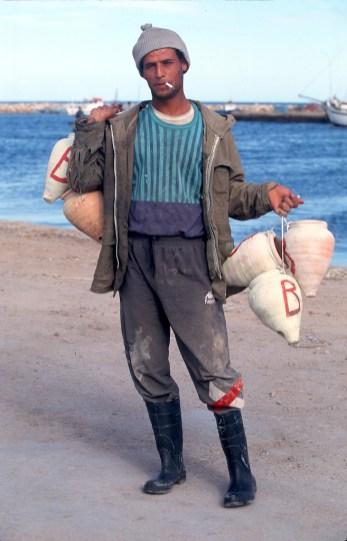 Túnez, Industria, Pescador, Pulpo, retrato