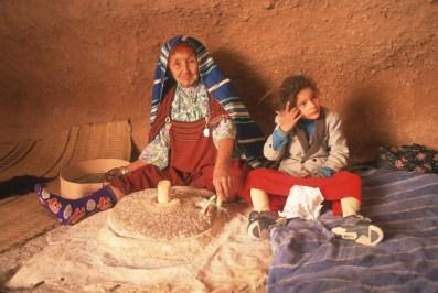 Túnez, Gran Sur, Matmata, casas trogloditas, molino el trigo, retrato