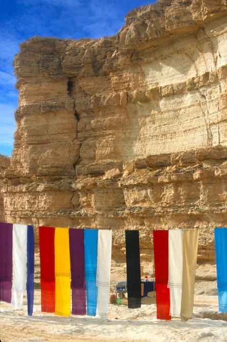 Túnez, oasis de montaña, Tamerza, cascada, colores