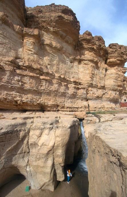 Túnez, oasis de montaña, Tamerza, cascada