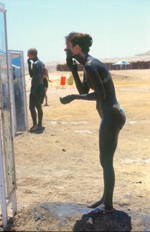 Israel, Ein Gedi, termas del Mar Muerto, baño de barro