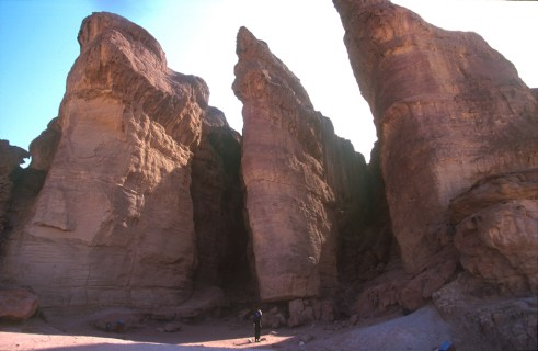 srael, Eilat, parque Timna, Negev, Columna de Salomon