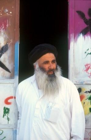 Israel, Jerusalén, barrio Arabe, Pintor de carteles, retrato