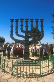 Israel, Jerusalén, Menorah, escultura