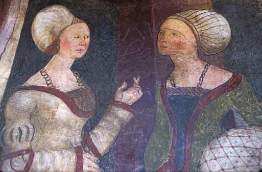 Innsbruck, Tejadillo de oro, Frescos Siglo XV, Pintura Mural