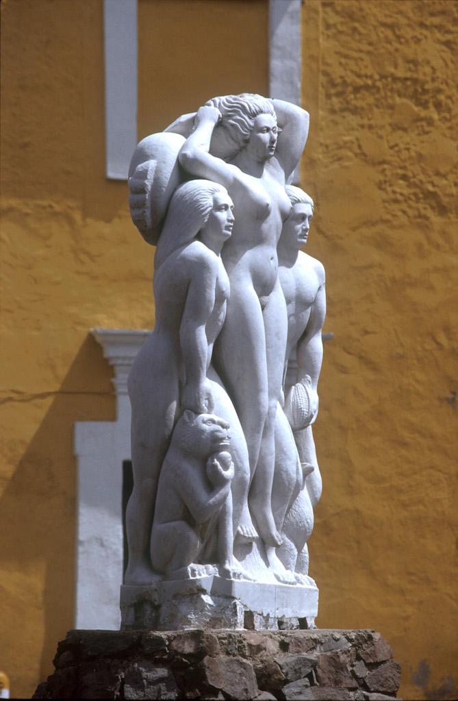 México, Puebla, barrio del artista, escultura
