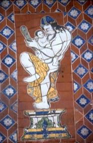 México, Puebla, casa de los Muñecos, mosaico