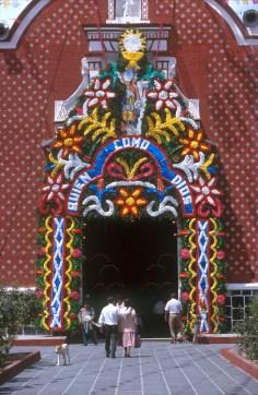 México, Puebla, San Miguel Huejotzingo, iglesia colonial español