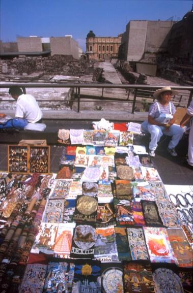 México, DF, Plaza de las Tres Culturas, antiguo templo Mayor Azteca