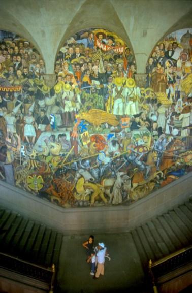 México, DF, Palacio Nacional, murales obra de Diego Rivera