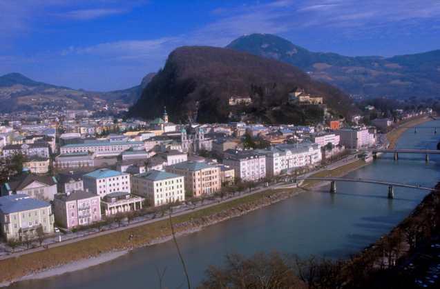 Austria, Salzburgo, río Salzach