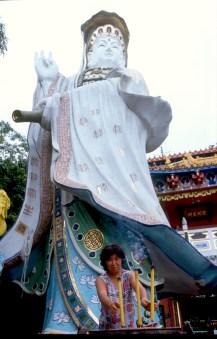 Hong Kong, Isla Hk, Templo de los Pescadores, escultura