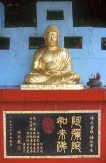 Hong Kong, Kowloon, templo Wong Tai Sin, Buda