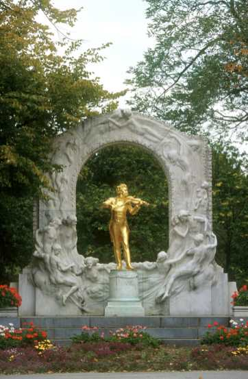 Viena, Stadtpark, Monumento Strauss