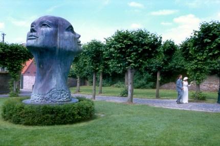Bélgica, Flandes, Damme, escultura